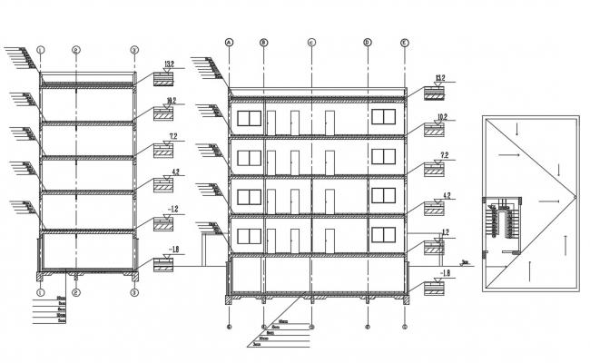 House Section Drawing CAD file free download