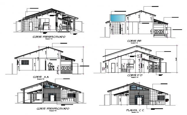 House Section Drawing DWG File