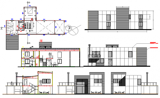 Section plan and elevation design