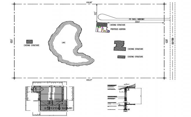 House Site Plan Free DWG File