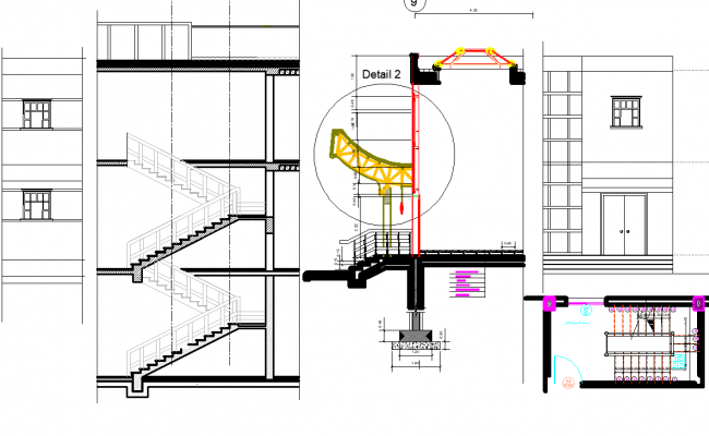 House Staircase plan