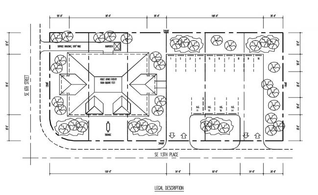 House Top View Plan DWG DWG File