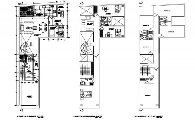 House With Office Floor Plan DWG File