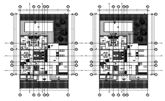 House With Swimming Pool Plan AutoCAD File