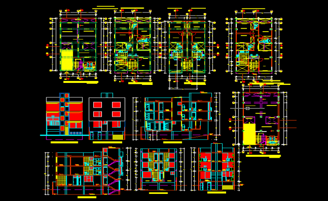 House architectural detail DWG file