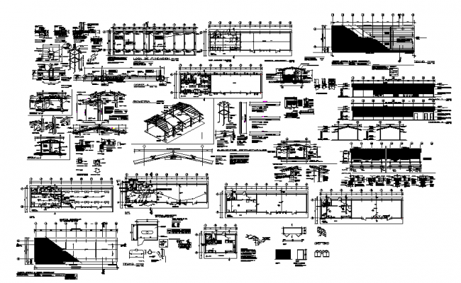 House architecture and structure detail in autocad files
