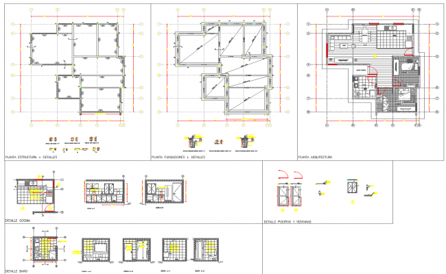 House architecture detail layout