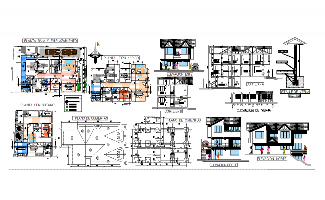 House architecture drawing in cad files