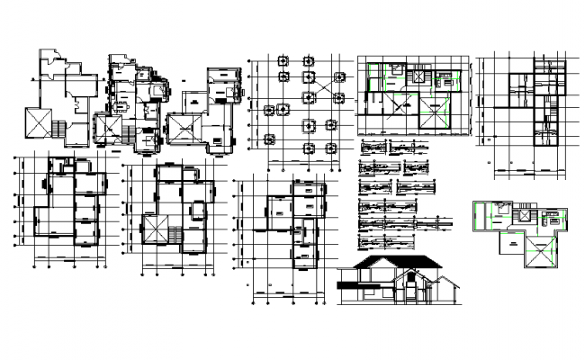 House architecture plan and design in cad