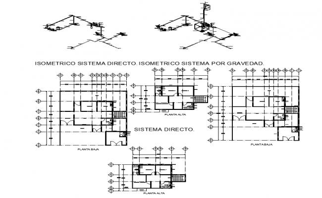 House centre line plan in autocad dwg files