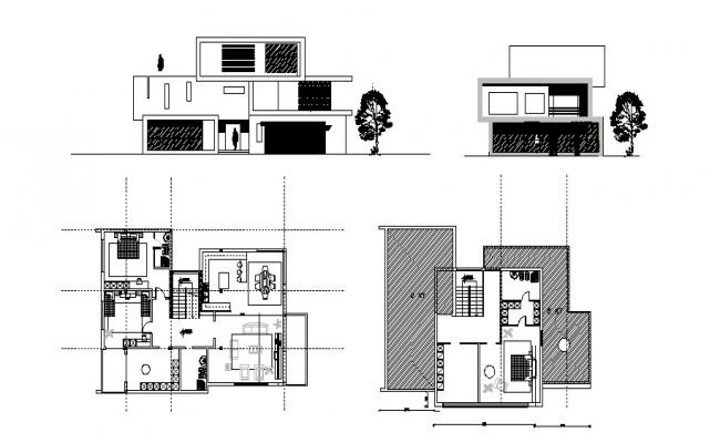 House design plan in AutoCAD