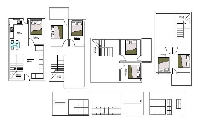 House Floor Plan Drawing In AutoCAD File