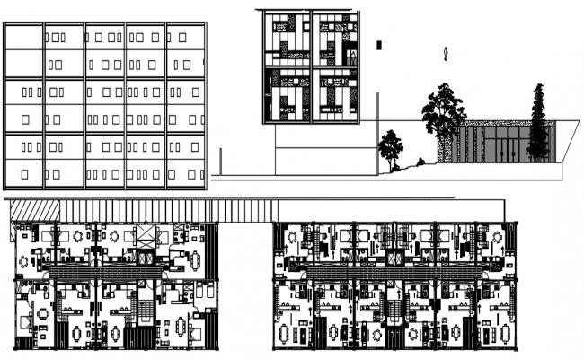 House Design Elevation In DWG File