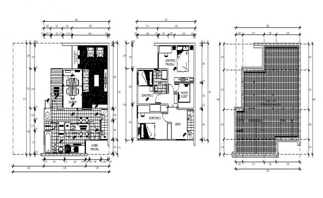 House Roof Design In AutoCAD File