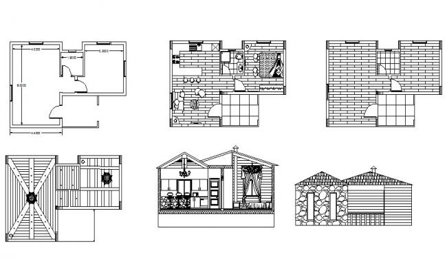 Small Luxury House Plan In DWG File