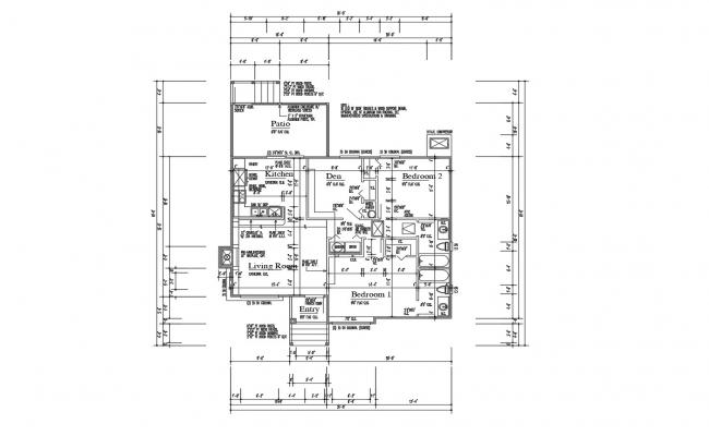 Small House Floor Plan In AutoCAD File