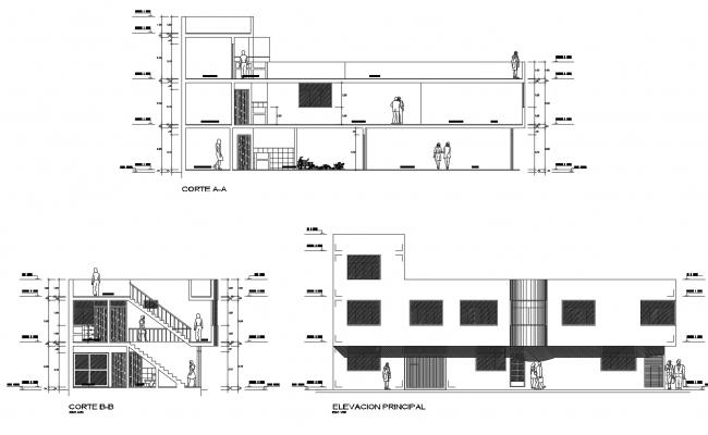 Modern House Layout In DWG File