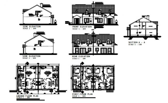 House drawings type B