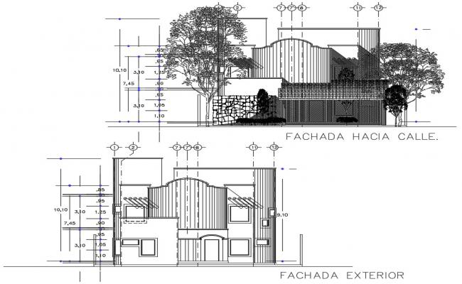 House elevation CAD drawing download
