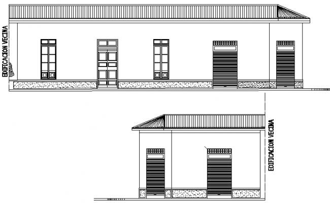 House elevation detail dwg file