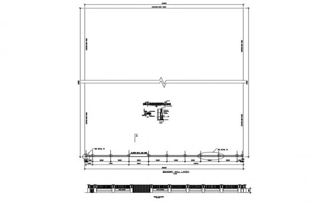 House fence and gate elevation, section and auto-cad details dwg file