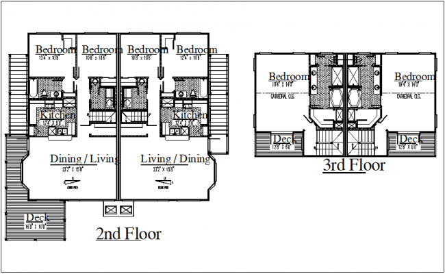 House floor plan view dwg file