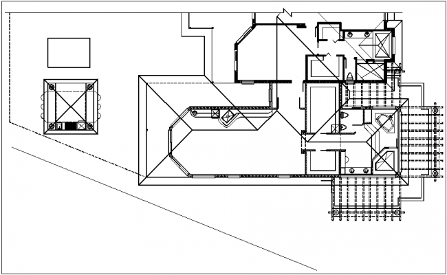 House floor plan view dwg file