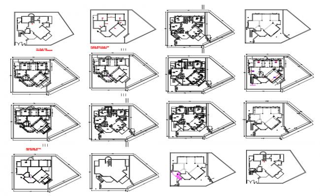 House floors framing plan and floor plan details dwg file