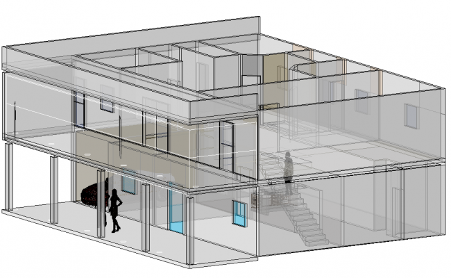 House in 3 D plan layout file