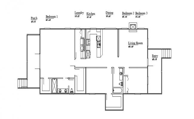 House layout plan and framing plan details dwg file
