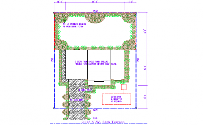 House maps for construction Detail