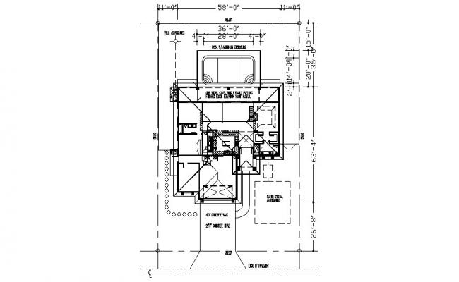 House plan 125mtr X 80mtr in autocad