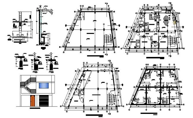 House Plan Elevation In AutoCAD File