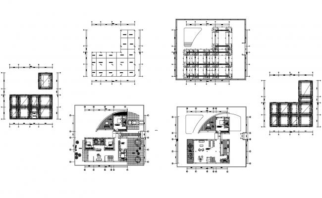 House plan 16.81mtr x 17.33mtr with detail dimension in autocad