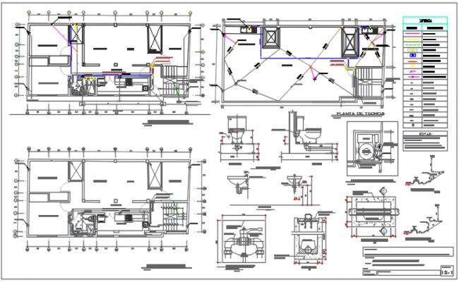 House plan center line plan detail dwg