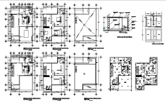 House plan design 10.00mtr x 14.00mtr with detail dimension in dwg file