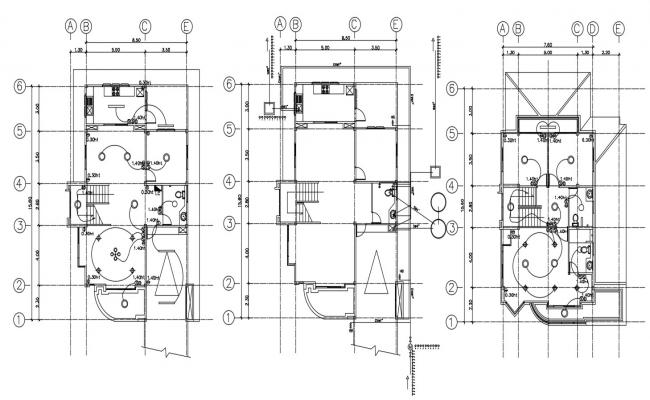 House designs drawing in DWG file