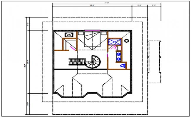 House plan detail dwg file