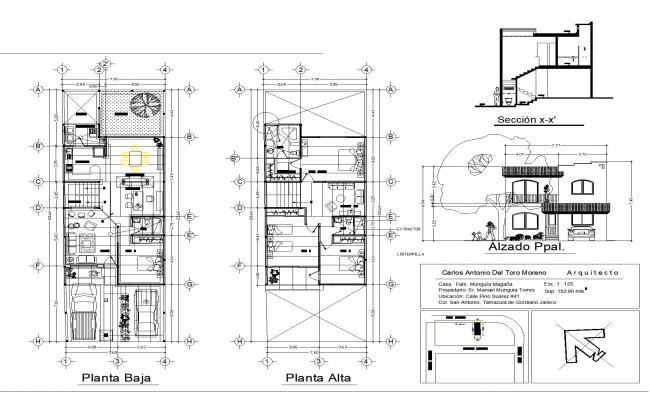 House plan detail dwg file.