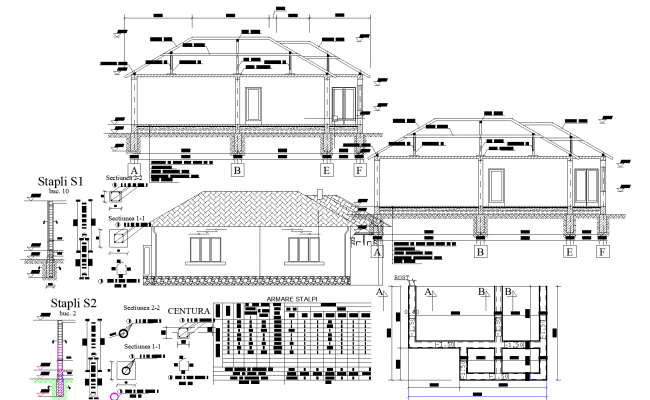 House plan dwg detail.,