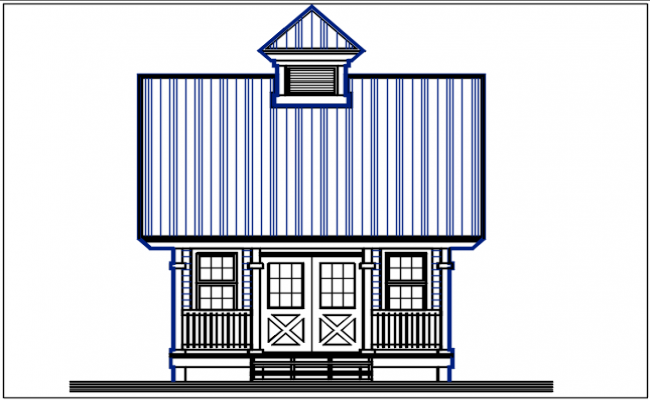House plan elevation detail dwg files