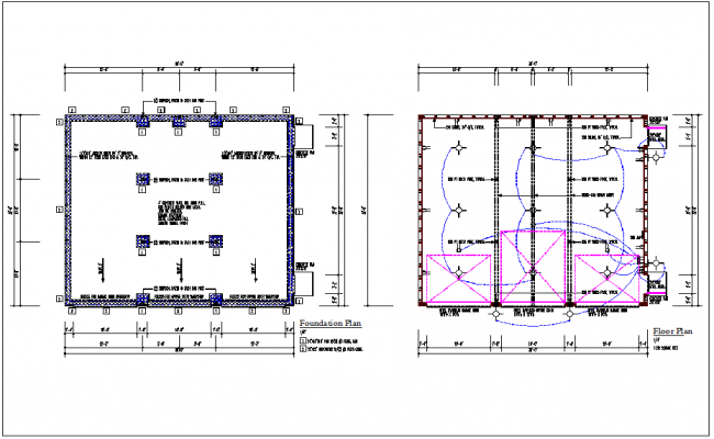 House plan layout, foundation plan layout & electric plan layout view detail dwg file