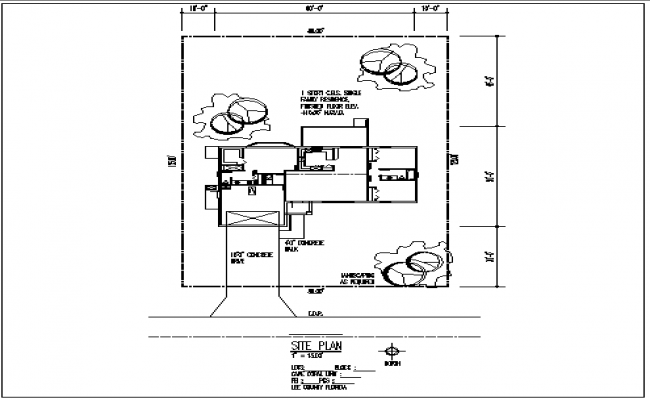 House plan layout and dimension view detail dwg file