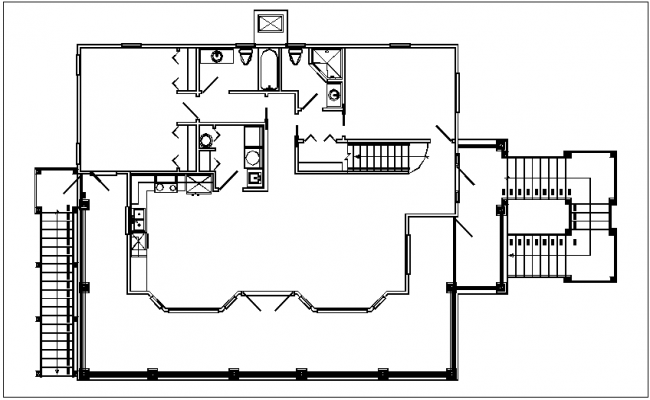 House plan layout and electric plan layout detail dwg file
