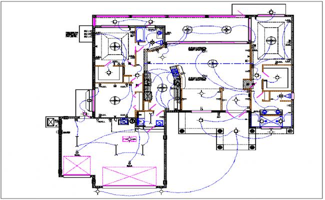 electrical house plan layout wiring diagram Highway Design Plans house plan layout and electric plan layout view detail dwg fileelectrical house plan layout 21
