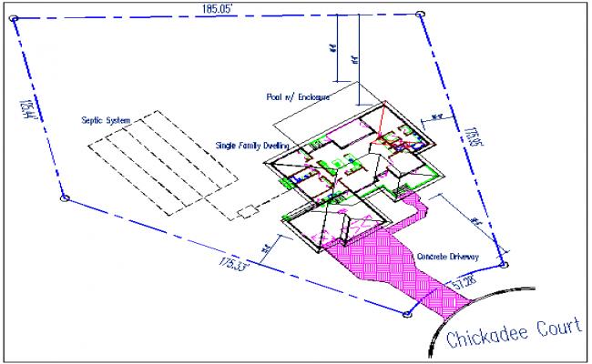 House plan layout view detail