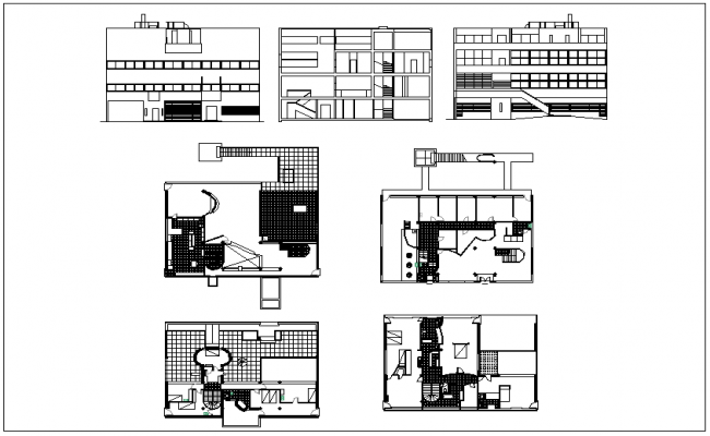 Section Elevation Plan View : House plan section and elevation view dwg file