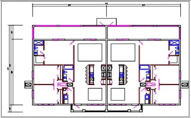 House plan view working plan details dwg file