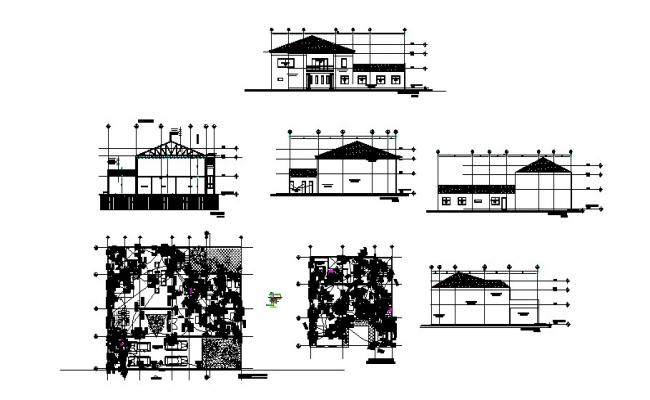 Residence Plan In AutoCAD File