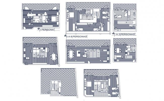 House layout plans in AutoCAD file